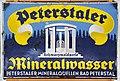Peterstaler, Emaille Werbung Schild, Fahrzeugmuseum Marxzell.JPG