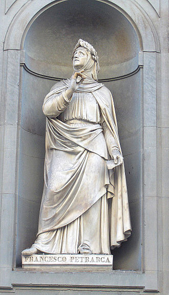 Italian literature - Statue outside the Uffizi, Florence