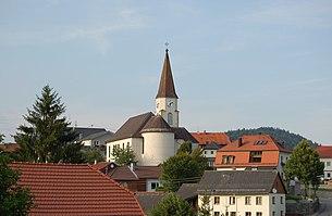 Town center with parish church