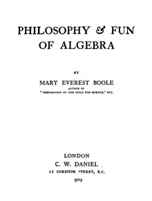 Philosophy and Fun of Algebra.djvu