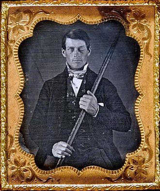 Phineas Gage - Image: Phineas Gage Cased Daguerreotype Wilgus Photo 2008 12 19 Unretouched Color Tone Corrected