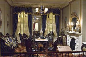 Rococo Revival - Photograph of a Rococo Revival Parlor in the Metropolitan Museum of Art