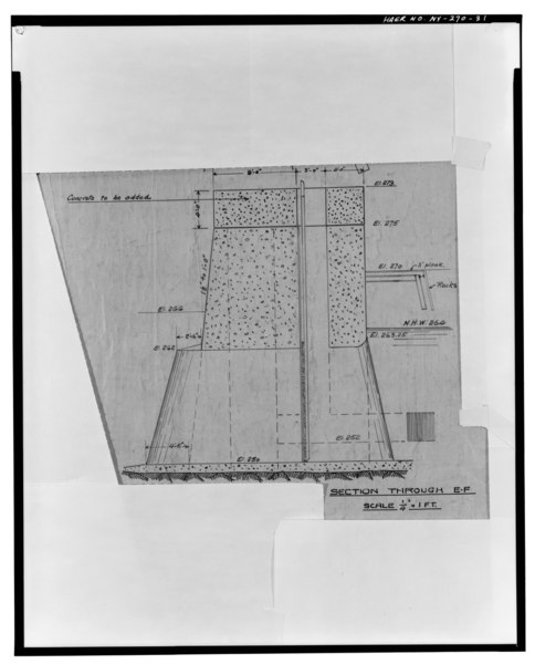 File:Photographic copy of ink on linen drawing (at the archives of Niagara Mohawk Power Corporation, 300 Eric Boulevard West, Syracuse, New York 13202), Strand, Draftsman, October 3, HAER NY,57-GLEFA,1-31.tif