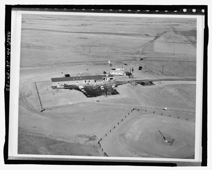 File:Photographic copy of photograph (ca. 1962, original print in possession of Army Corps of Engineers, Ft. Belvoir, Virginia) Photographer unknown. Aerial view of launch control facility HAER SD-50-33.tif