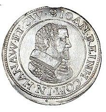 Pièce en argent de Johann Reinhard de Hanau.jpg