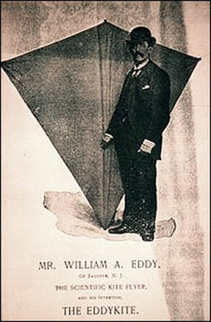 William Abner Eddy - William Eddy with kite.