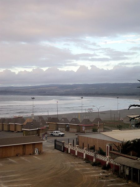Overview of the coast of Pichilemu, on Friday afternoon. Image: Diego Grez.