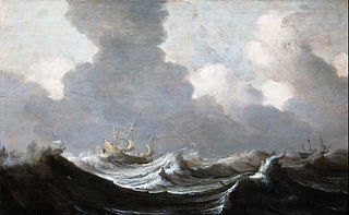 Four Vessels Running Before a Gale