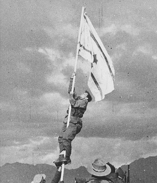 מבצע עובדה - הנפת דגל הדיו