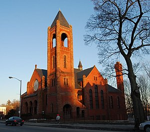 Pilgrim Congregational Church (Worcester, Massachusetts) - Image: Pilgrim cong church 909 Main