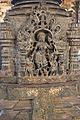 Pillar base relief in Kalleshvara temple at Bagali.JPG