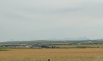 Pincher Creek - Image: Pincher Creek Alberta Panorama looking south from AB3