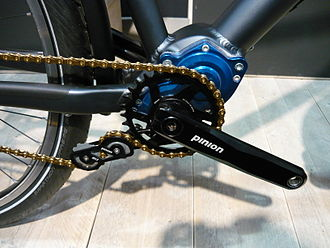 Bicycle gearing - A bicycle gearbox with chain tensioner