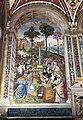 Pinturicchio, liberia piccolomini, 1502-07 circa, Enea Silvio, vescovo di Siena, presenta Eleonora di Portogallo all'imperatore Federico III 01.JPG