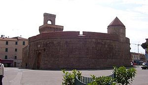 Piombino - The Rivellino, the ancient main gate built in 1447 by Rinaldo Orsini.