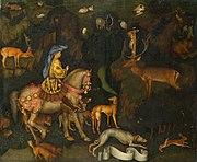 Vision des Hl. Eustathius by Pisanello