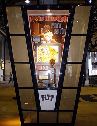 Pittsburgh Panthers - Kiosk in the Great Hall at Heinz Field celebrating Pitt's 1976 football National Championship