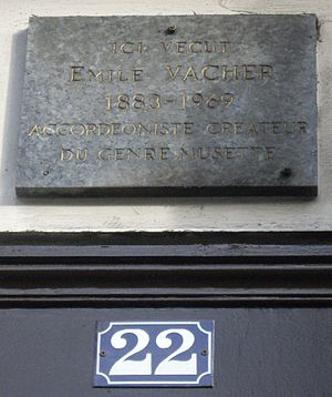 Émile Vacher - Commemorative plaque at 22, boulevard Saint-Denis, 10e arrondissement Paris