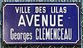 Plaque Avenue Georges Clemenceau - Les Lilas (FR93) - 2021-04-27 - 1.jpg