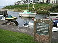 Plaque at Blackwaterfoot Harbour - geograph.org.uk - 557222.jpg