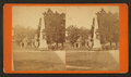 Plaza and Monument, showing the Old Spanish Governor's house, now used as Post Office and Court House, from Robert N. Dennis collection of stereoscopic views.png