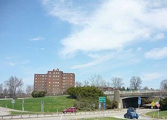 Pleasant Hills, Pennsylvania - Cloverleaf with Clairton Boulevard