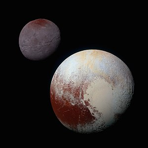 Dwarf planet - Pluto and its moon Charon