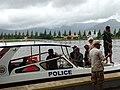Police Boat Evacuating Flood-Stranded Locals - Kampot - Cambodia (48501907067).jpg