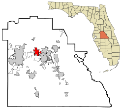 Polk County Florida Incorporated and Unincorporated areas Auburndale Highlighted.svg