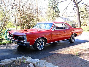 Muscle car - This 1966 Pontiac GTO is an example of a classic muscle car