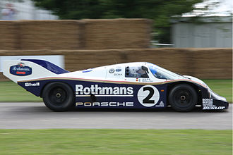 Porsche 956 - The factory-run Rothmans-sponsored 956 of Jochen Mass and Stefan Bellof.