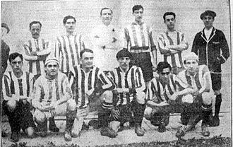 Club Atlético Porteño - The squad that won the Copa de Competencia after beating Racing Club, 1915