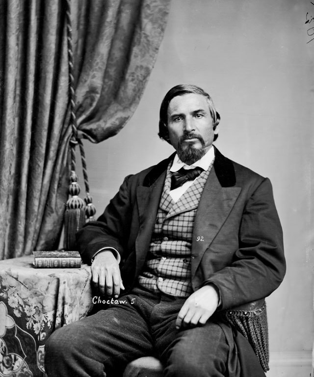 Portrait (Front) of Faunceway Baptiste or Battice (Mixed Blood) 1868