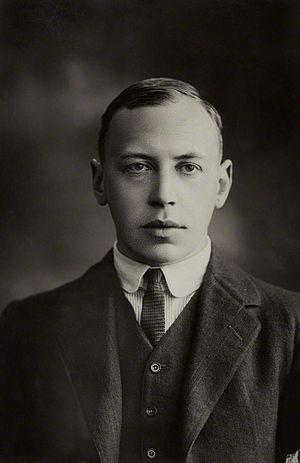 Alfred Noyes - Portrait of Alfred Noyes, by Alexander Bassano, 1922