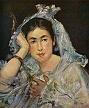 Portrait of Marguerite de Conflans wearing a mantilla by Edouard Manet.jpg