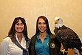 Posing for picture with Bald Eagle. (10596006926).jpg