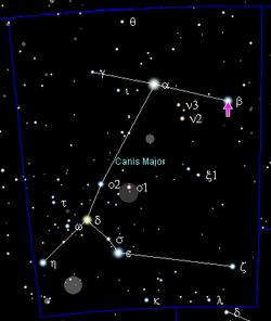 Beta Canis Majoris - Wikipedia, the free encyclopedia  Beta Canis Majo...