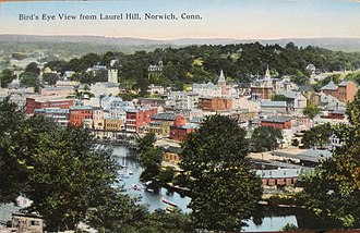 Neighborhoods of Norwich, Connecticut - View from Laurel Hill, about 1916
