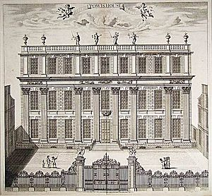 Powis House - The second version of Powis House, c. 1714.