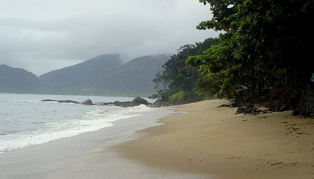 Picinguaba Beach by https://commons.wikimedia.org/wiki/User:Ricardosdag