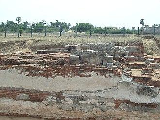 Murugan Temple, Saluvankuppam - A portion of the brick prakara or compound wall of the Murugan Temple