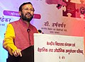 Prakash Javadekar addressing at the signing ceremony of an MoU between Council of Scientific and Industrial Research (CSIR) and Kendriya Vidyalaya Sangathan (KVS) for a Student-Scientist Connect Programme, named JIGYASA.jpg