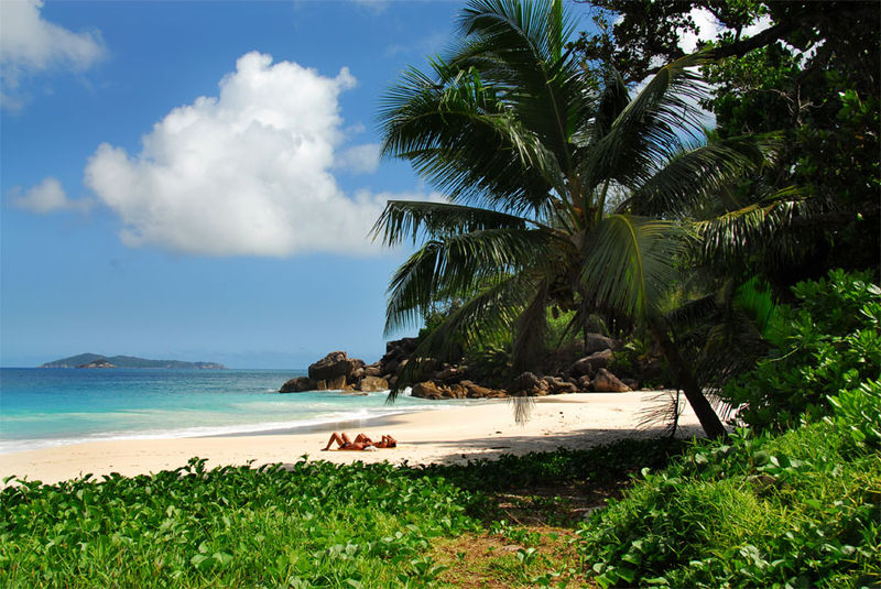 Beach on Praslin