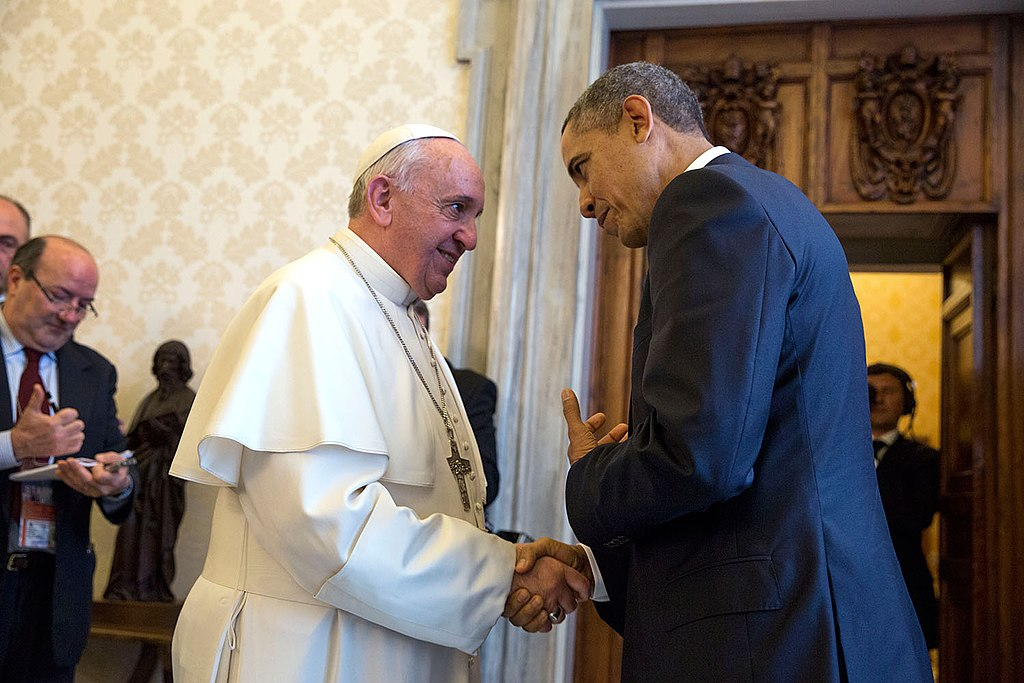 President Barack Obama with Pope Francis at the Vatican, March 27, 2014