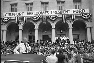 Gulfport, Mississippi - U.S. President Gerald Ford visited Gulfport during his 1976 reelection campaign