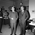 President John F. Kennedy with Minister of State for Cultural Affairs of France, André Malraux (01).jpg