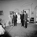President John F. Kennedy with Prince Juan Carlos of Spain and Princess Sophia of Greece (04).jpg
