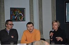 Press conference about 56 Venice Biennale in Contemporary Art Center, Minsk 21.01.2015 13.JPG