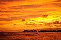 Pride of America leaving Honolulu Harbor after Sunset (5903370652).jpg