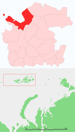Location of Piejūras rajons